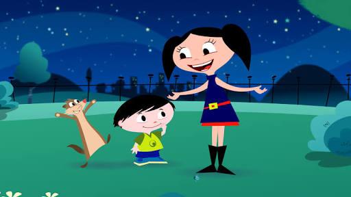 Personagens do Show da Luna encontram com crianças na Caminhada do Santa Joana