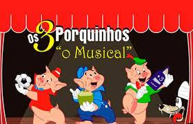 """""""Os Três Porquinhos, o Musical"""", no Teatro Bibi Ferreira, com DESCONTÃO no Passeios Kids"""
