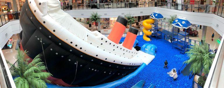Santana Parque Shopping recebe piscina de bolinhas gigante nas férias