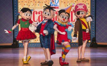 Desfile de fantasias, bloquinho e matinê animam o Carnaval em família no Parque da Mônica