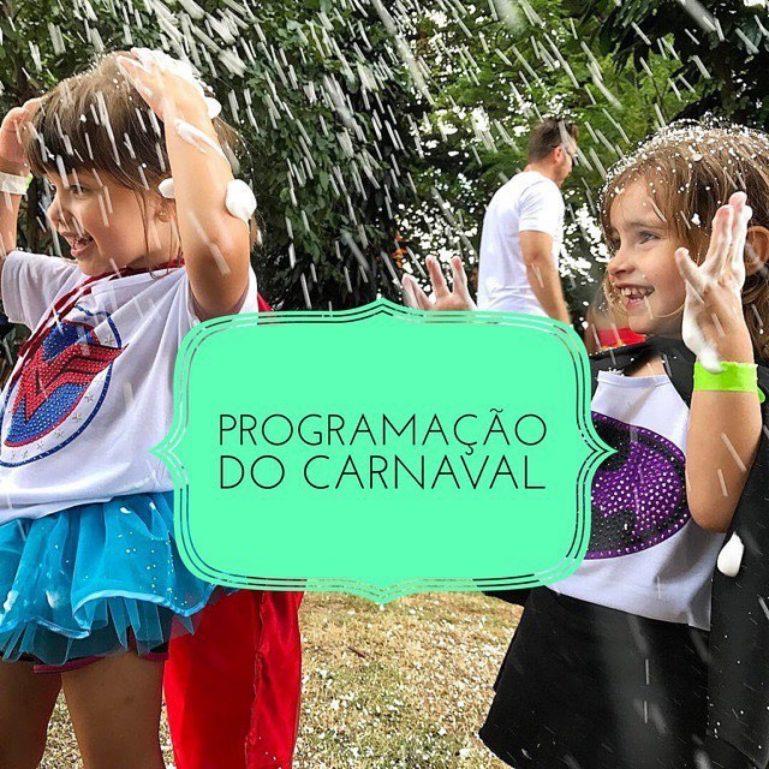 Programação do Carnaval Infantil: Sábado, 10/02