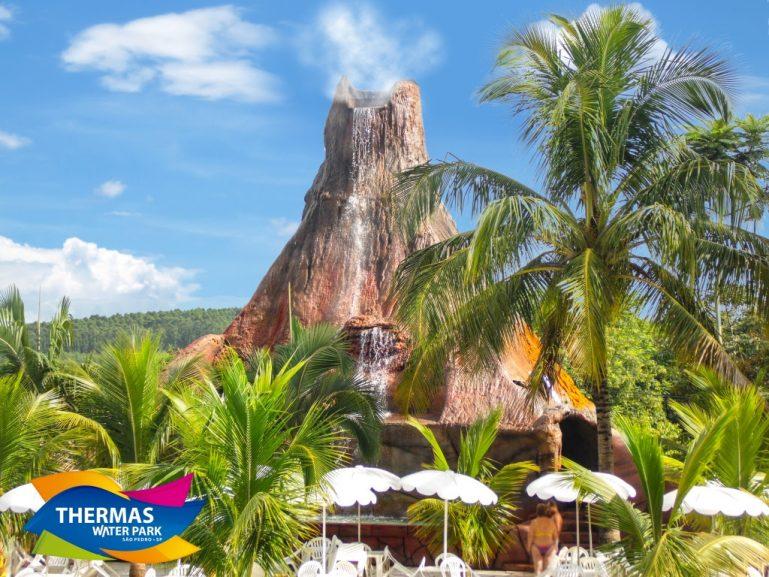 Vulcão é a nova atração do Thermas Water Park