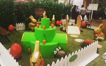 Jardim Mágico do Gold Bunny, da Lindt, na Páscoa do Shopping Cidade São Paulo