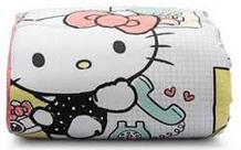 Edredom Hello Kitty Artex, 100% algodão, matelado, queen size – R$ 279,90