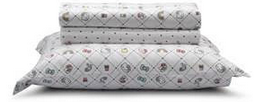 Jogo de lençol Hello KittyArtex, percal 100% algodão, toque de cetim, queen size - R$ 229,90