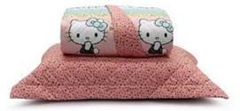 Colcha Hello Kitty Artex, 100% algodão, dupla face, matelada, 2 porta-travesseiros, queen size - R$ 319,90