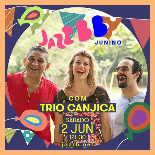 Trio Canjica, com Cris Barulins, faz show no JazzBB para bebês e crianças pequenas