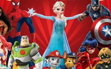 Kids Show chega a Guarulhos com Patrulha Canina, Buzz Lightyear, Elsa, Capitão América, e outros personagens com desconto do Passeios Kids