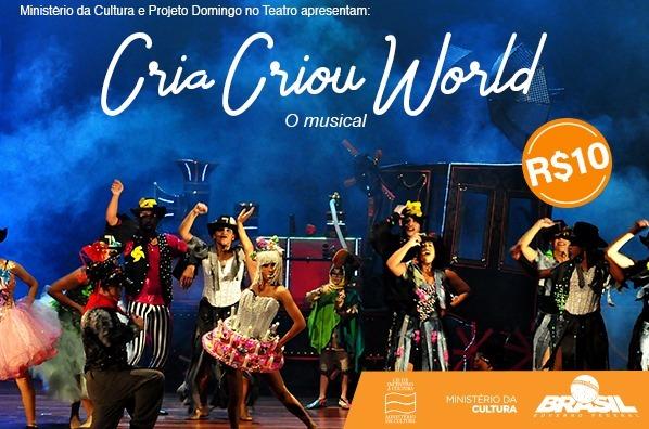 """Teatro J. Safra recebe espetáculo infantil """"Cria Criou World"""" com ingresso por apenas R$ 10,00"""