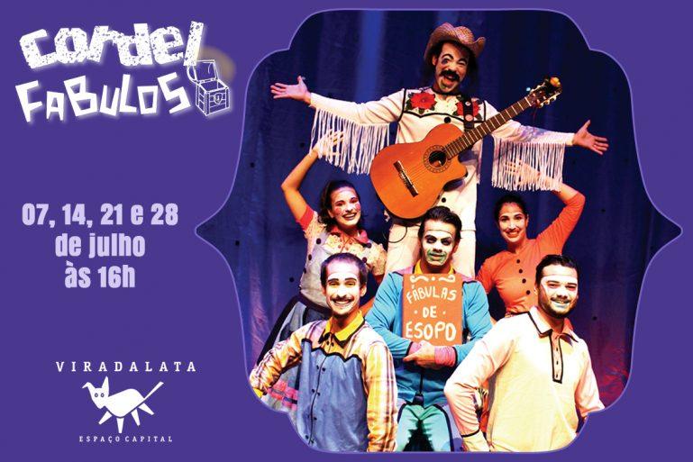 Espetáculo Infantil Cordel Fabuloso no Festival de Férias do Teatro Viradalata e desconto no Passeios Kids