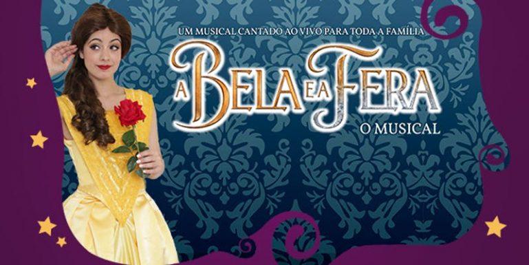 """Teatro Dr. Botica apresenta """"A Bela e a Fera – O Musical"""", aos sábados e domingos de julho, com desconto do Passeios Kids"""