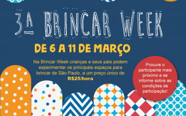 Brincar Week está de volta e promete muita diversão para crianças