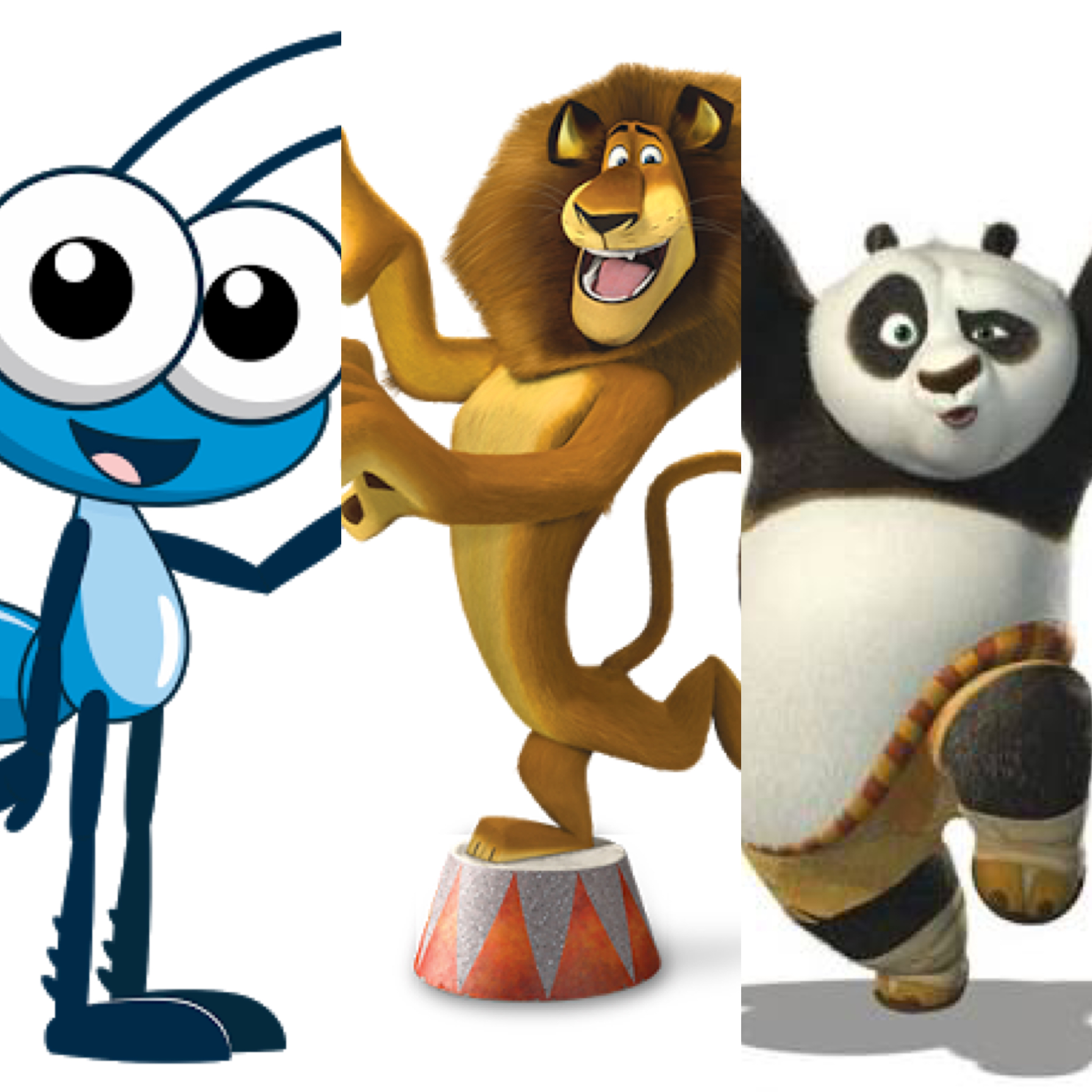 Bob Zoom, Alex De Madagascar E Panda No Cine Drive-in Kids