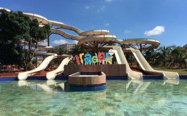 Dia das Crianças no novo parque aquático de Olímpia