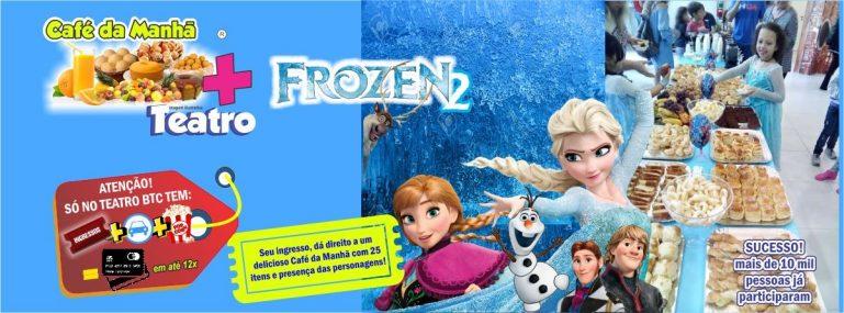 FROZEN: Sábado é dia de Café Da Manhã com Anna e Elsa no Teatro