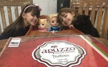 Restaurante Aguzzo Trattoria recebe crianças com menu kids especial e delicioso