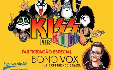 Gosta de rock, bebê? Kiss for Kids e Bono Vox, do U2 Experience Brazil, fazem show histórico no Theatro Net