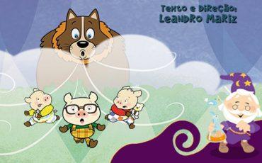"""Férias no Teatro Dr. Botica tem """"Os Três Porquinhos – O Retorno do Lobo Mau"""", às quintas, com desconto"""