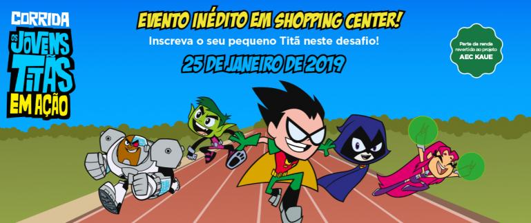 Esporte! Shopping Metrô Itaquera realiza a Corrida Infantil Os Jovens Titãs em Ação