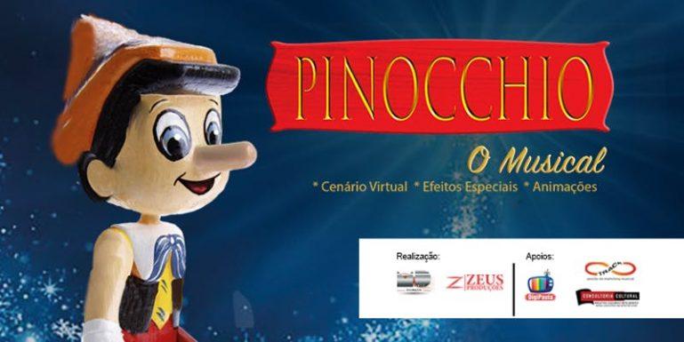 """Infantil """"Pinocchio, o Musical"""" inicia temporada no Teatro Dr. Botica e você ganha 50% de desconto para curtir o espetáculo!"""