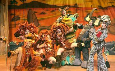 """Espetáculo """"Ruge Leão – O Rei da Savana"""" conta a história do leão que precisa ser rei, mas precisa aprender muitas lições antes"""