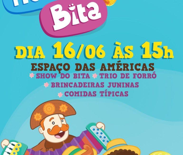 """Em rítimo de Festa Junina, """"Arraial Mundo Bita"""" chega ao Espaço das Américas com show especial para as crianças"""