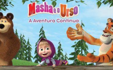 """Espetáculo """"Masha e o Urso – A Aventura Continua"""" estreia no Tom Brasil com desconto do Passeios Kids"""